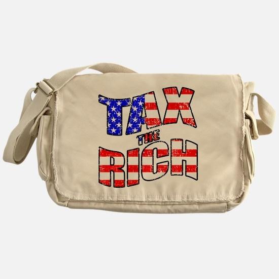 TAX the RICH Messenger Bag
