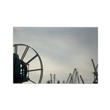 Bulgaria. Ships docked with docks Rectangle Magnet