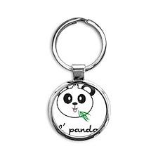 panda_7x7_apparel Round Keychain