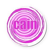 POL-PINK SWIRL CAIN Cork Coaster