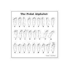 """The Pedal Alphabet Square Sticker 3"""" x 3"""""""