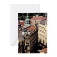 Old Town; buildings of Old Townohemi Greeting Card