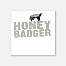"Honey Badger Thing -dk Square Sticker 3"" x 3"""