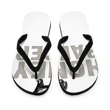 Honey Badger Thing -dk Flip Flops