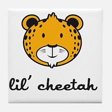 cheetah_7x7_apparel Tile Coaster
