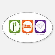 Eat Sleep Appraisals Oval Decal