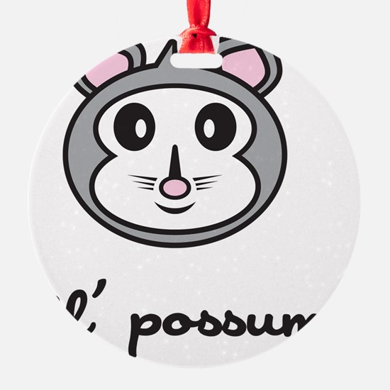 possum_7x7_apparel Ornament