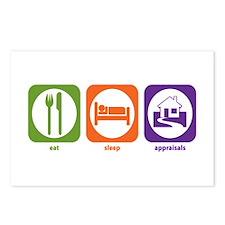 Eat Sleep Appraisals Postcards (Package of 8)