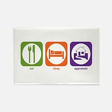 Eat Sleep Appraisals Rectangle Magnet