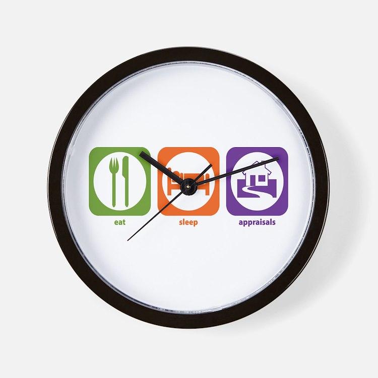 Eat Sleep Appraisals Wall Clock