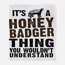 Honey Badger Thing Throw Blanket