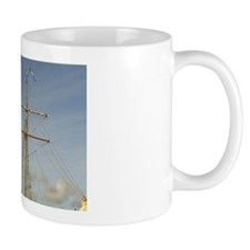 Helsingor. Old sailing ship in the harb Mug