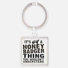 Honey Badger Thing Square Keychain
