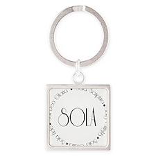 sola1 Square Keychain