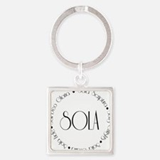 sola1 Square Keychain