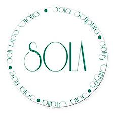sola4 Round Car Magnet