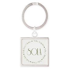 sola3 Square Keychain