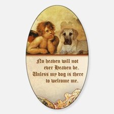 nook_dog_heaven Sticker (Oval)