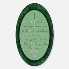 nook_darcy_quote Sticker (Oval)