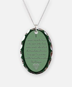 nook_darcy_quote Necklace Oval Charm