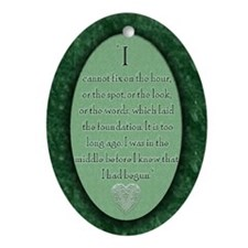nook_darcy_quote Oval Ornament
