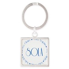 sola5 Square Keychain