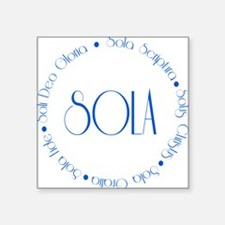 "sola5 Square Sticker 3"" x 3"""