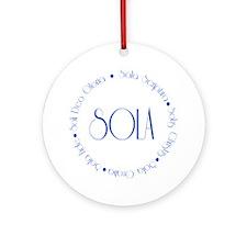 sola5 Round Ornament