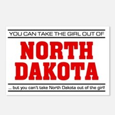 Girl out of n dakota Postcards (Package of 8)
