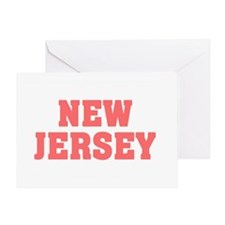 Girl out of new jersey light Greeting Card