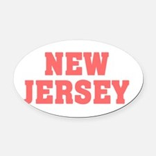 Girl out of new jersey light Oval Car Magnet