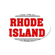 Girl out of rhode island Oval Car Magnet