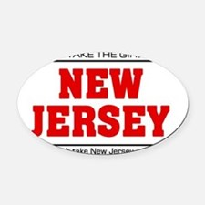 Girl out of new jersey Oval Car Magnet