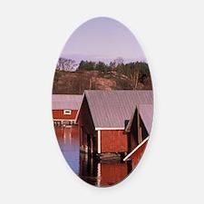 Finland, Aland Isles, Kumlinge. Bo Oval Car Magnet