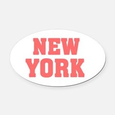 Girl out of new york light Oval Car Magnet