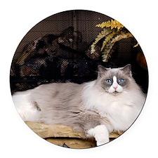 H Sammy fireplace Round Car Magnet