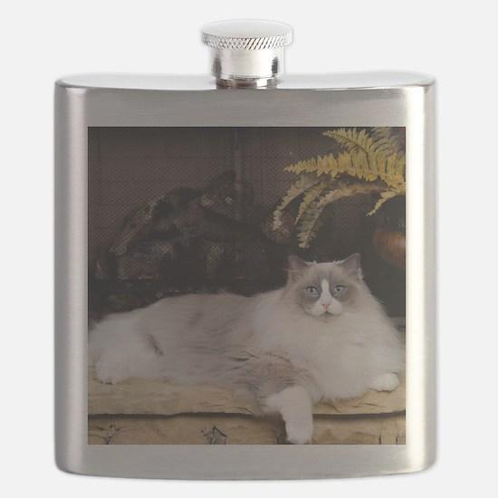 H Sammy fireplace Flask