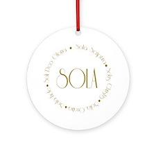 sola2 Round Ornament