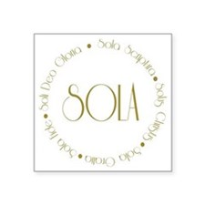 "sola2 Square Sticker 3"" x 3"""