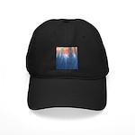 Blue/Orange Tie-Dye Black Cap