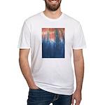 Blue/Orange Tie-Dye Fitted T-Shirt