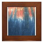 Blue/Orange Tie-Dye Framed Tile