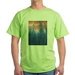 Blue/Orange Tie-Dye Green T-Shirt