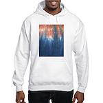 Blue/Orange Tie-Dye Hooded Sweatshirt