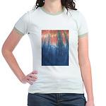 Blue/Orange Tie-Dye Jr. Ringer T-Shirt