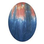 Blue/Orange Tie-Dye Oval Ornament