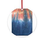 Blue/Orange Tie-Dye Ornament (Round)