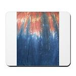 Blue/Orange Tie-Dye Mousepad
