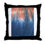 Blue/Orange Tie-Dye Throw Pillow