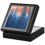 Blue/Orange Tie-Dye Keepsake Box